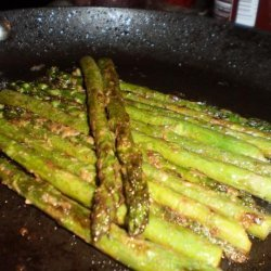 Asparagus Sauteed in Butter and Mustard recipe