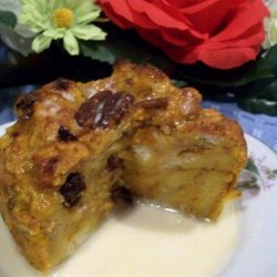 Pumpkin Bread Pudding With Vanilla Butter Sauce recipe
