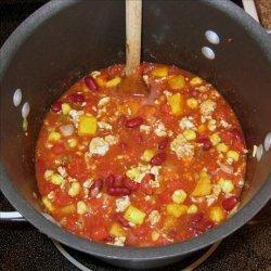Butternut Squash and Turkey Chili recipe