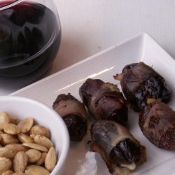 Dates Stuffed With Almonds and Blue Cheese recipe