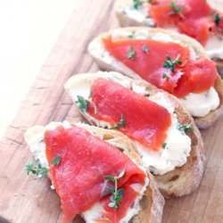 Creamed Salmon on Toast recipe