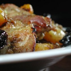 Spicy Moroccan Chicken With Apricots and Prunes (Low Fat) recipe