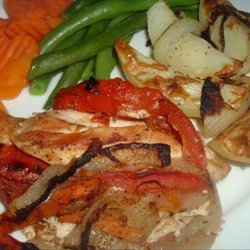 Sweet and Savory Vegetable Stuffed Chicken recipe