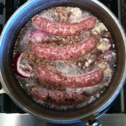 Bobby Flay's Beer-Simmered Bratwurst recipe