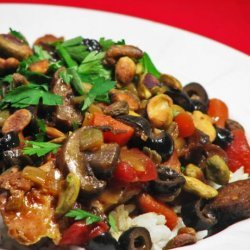 Chicken Tagine with Figs, Olives, and Pistachios recipe