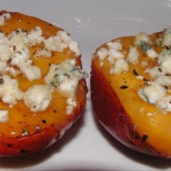 Grilled Nectarines With Bleu Cheese, Honey and Black Pepper recipe