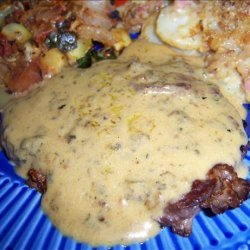 Steak With a Chive & Whiskey Cream Sauce recipe
