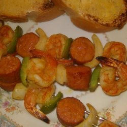 Shrimp and Sausage Kabobs recipe