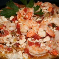 Prawns in Spicy Tomato Sauce With Feta Cheese recipe
