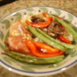 Baked Cod With Vegetables, Prosciutto and Pine Nuts recipe