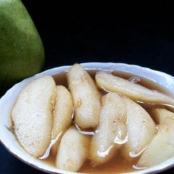 Maple Grilled Pears With Brown Sugar and Cinnamon recipe