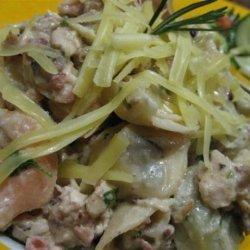 Pasta With Mushroom, Bacon and Walnut Sauce recipe