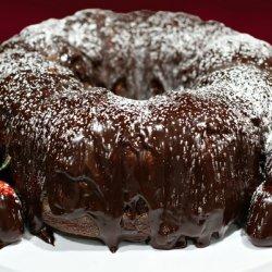 Cabernet Chocolate Cake With Strawberries recipe