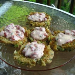 Panko-Crusted Crab Cake Bites With Roasted Pepper-Chive Aioli recipe
