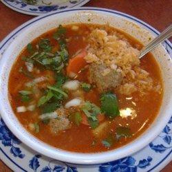 Mexican Meatball Soup - Albondigas recipe