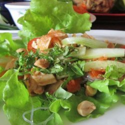 Chicken Lettuce 'Tacos' With a Sweet Chili Sauce recipe