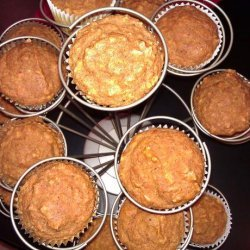 Moist Pumpkin Oatmeal Muffins recipe