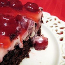 Double Chocolate Cherry Cake recipe