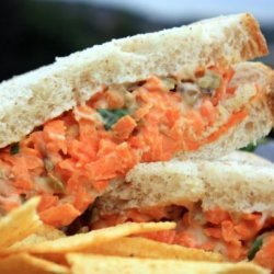 Nut and Carrot Sandwich recipe