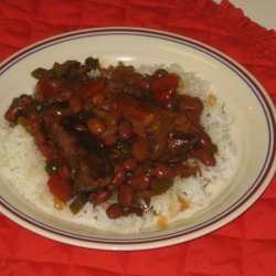 Crock Pot Sweet and Spicy Pork or Beef Ribs and Beans recipe