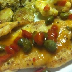 Turkey Cutlets With Citrus Sauce and Capers recipe