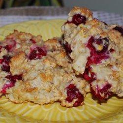 Lemon Cranberry Oat Scones recipe