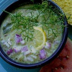 Mexican Cold Cucumber Cilantro soup recipe