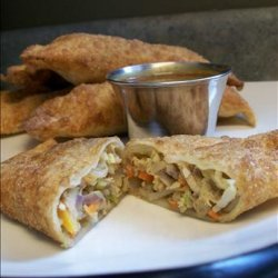 Egg Rolls With Peanut Dipping Sauce recipe