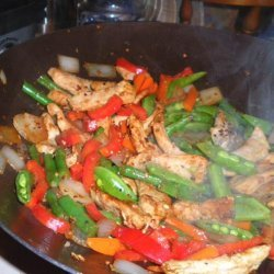 Pork and Green Bean Stir-Fry With Peanuts recipe
