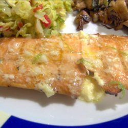 Grilled Salmon With Lime Butter Sauce recipe