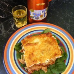 Greek Lamb & Yoghurt Pasta Bake recipe