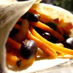 Yam and Black Bean Wraps (Louisiana) recipe