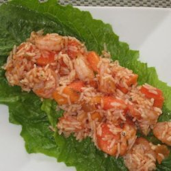 Fire and Ice Salad (Papaya Shrimp Salad) recipe
