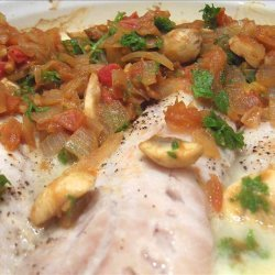 Perch or Snapper Fillet With Tomatoes and Onion recipe