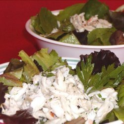 Lemony Crab Salad With Baby Greens recipe