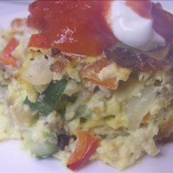 Hot Sausage and Vegetable Breakfast Casserole recipe