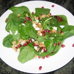 Wild Green Salad With Pomegranate Vinaigrette recipe