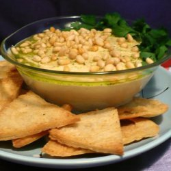 Hummus With Toasted Pine Nuts, Cumin Seeds and Parsley Oil recipe