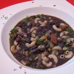 Florentine White Bean Soup with Pasta recipe