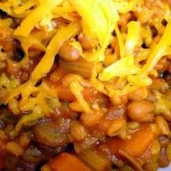 Spicy Tomato and Bean Barley Bake (Low Fat and Healthy) recipe