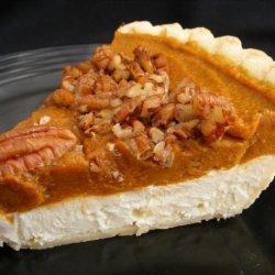 Pumpkin Cream Cheese Layer Pie recipe