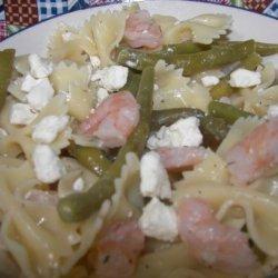 Shrimp, Green Bean and Feta Pasta Salad recipe