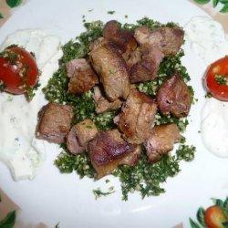 Spicy Lamb Kabobs With Turkish Cacik recipe