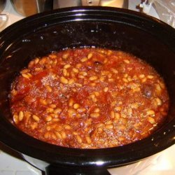 Crock Pot Pork and Beans recipe