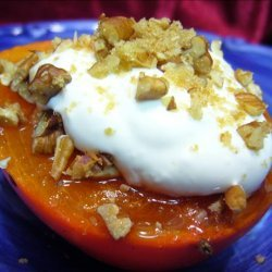Ww 3 Points - Broiled Persimmon With Pecans recipe