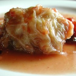 Stuffed Cabbage with Cranberry Sauce recipe