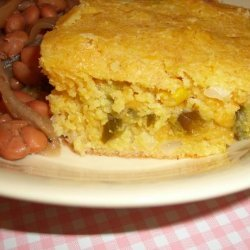 Paula Deen's  Layered Mexican Cornbread recipe