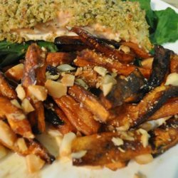 Roasted Sweet Potatoes With Macadamia Nuts recipe