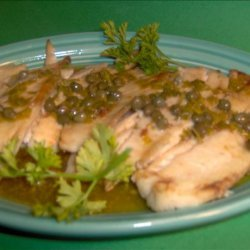Broiled Fish With Buttery Caper Sauce recipe
