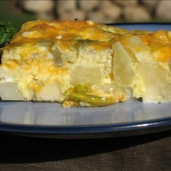 Cheesy Potato and Green Chili Breakfast Casserole recipe